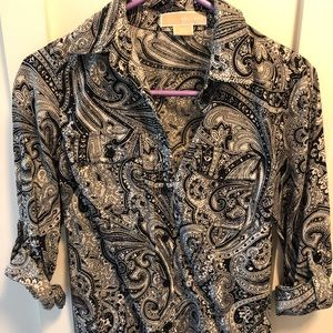 MK paisley button down